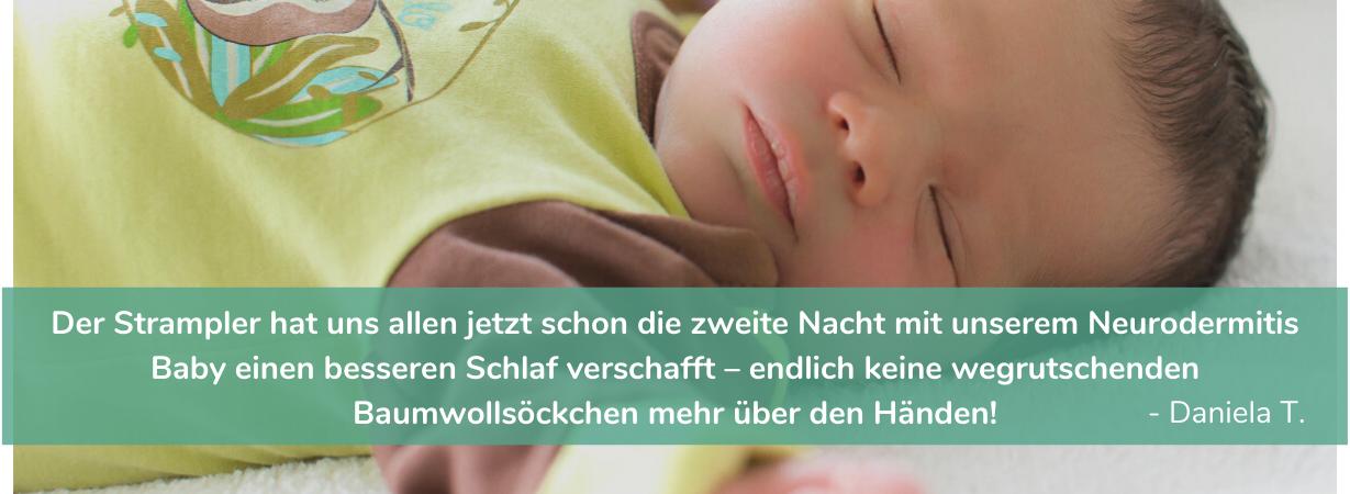 Schlafräuber Neurodermitis: so schläft dein Baby besser