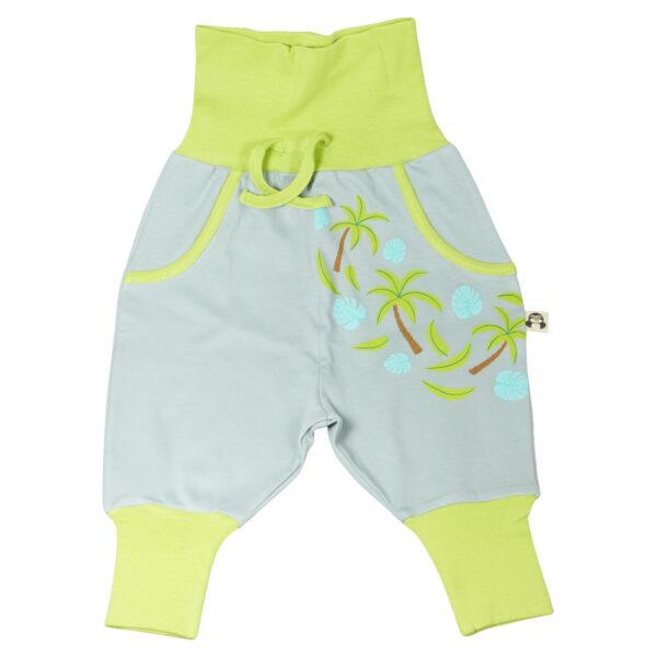 Chill n Feel - Baby und Kinder Hausanzug Palmblätter Affe_Pima Biobaumwolle (9)