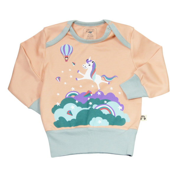 Baby Pullover mit Einhorn Motiv aus Pima Baumwolle