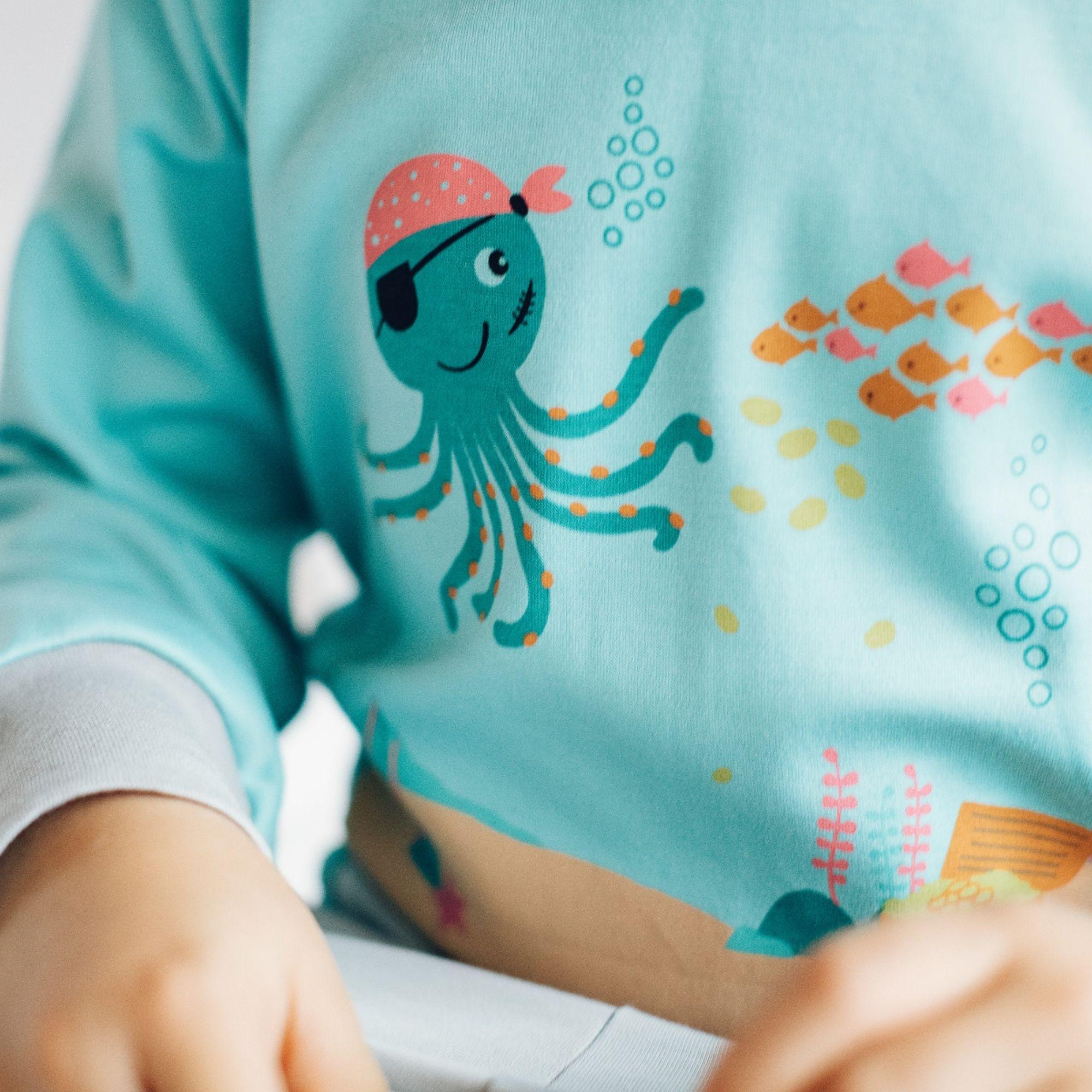 Kinder Schlafanzug für Jungs aus Pima Bio-Baumwolle