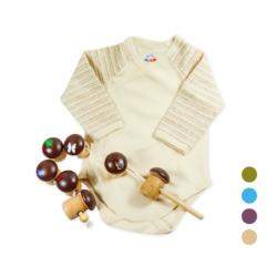 Chill n Feel - Babygeschenk_Montessori Spielzeug Fädelspiel_Pima Wickelbody