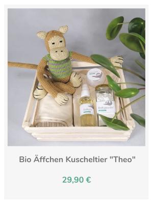 Chill n Feel - Geburtsgeschenk_Babypflege Set u. Äffchen Kuscheltier (3)