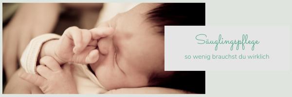 Babypflege Set einfach selber machen