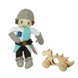 Chill n Feel - Öko Ritter Spielzeug_Ritter-Puppe u. Holzdrache