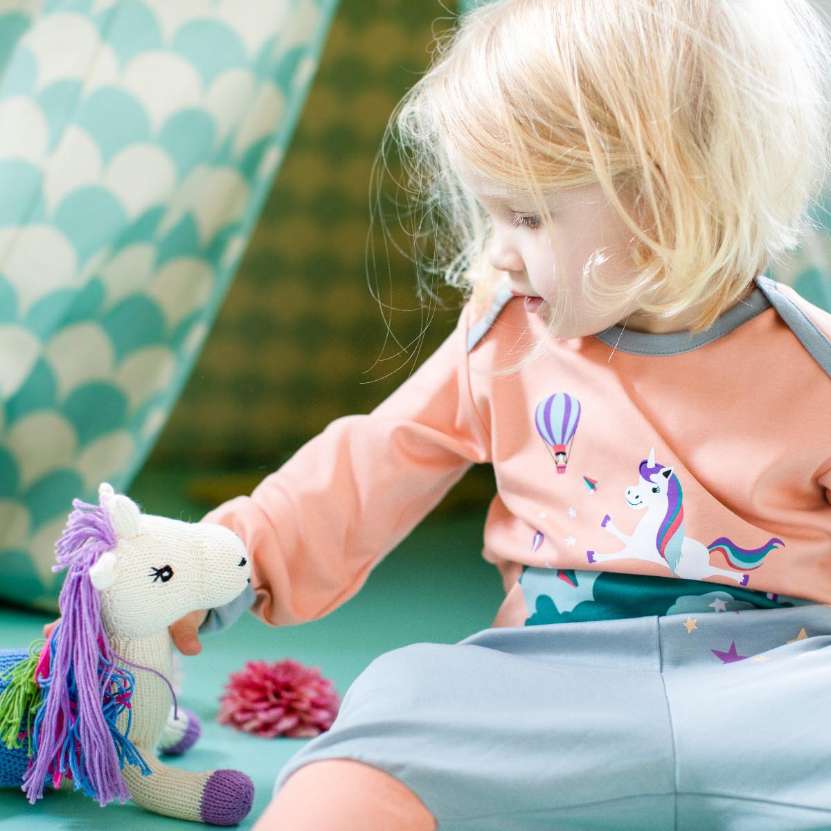Kinderzimmer-Schild T/ürschild mit Namen Mia und Einhorn-Motiv in Pastell-Optik f/ür M/ädchen