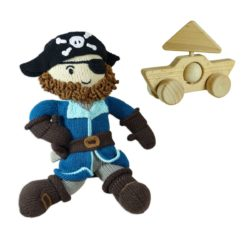 Chill n Feel - Nachhaltiges Piraten Spielzeug_Geschenk für 3 jährige Jungs
