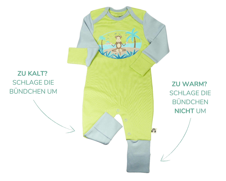 Baby Sommerkleidung - Strampler aus Pima Baumwolle