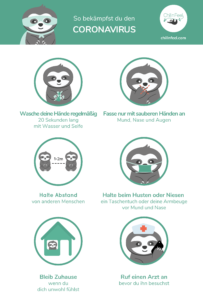 Chill n Feel - Infografik Coronavirus Prävention_Covid_19_Kinder