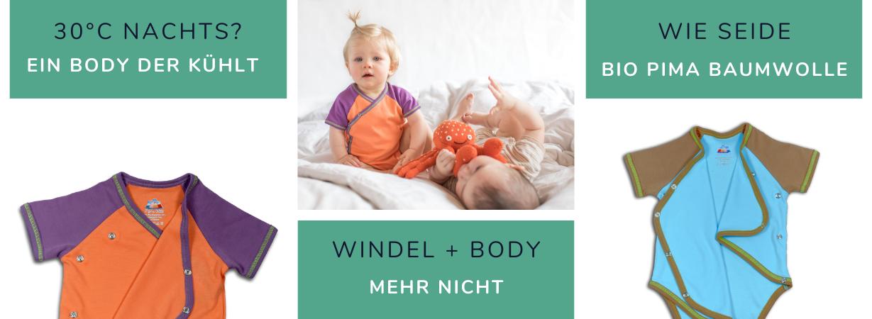Kühlende Baby Bodys für heiße Sommernächte