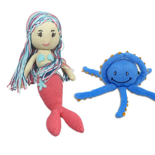 Chill n Feel - Geschenk für Geschwister zur Geburt_Meerjungfrau_Oktopus
