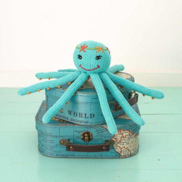 Maritimes Geschenk für Geschwister zur Geburt_Meerjungfrau und Oktopus (1)
