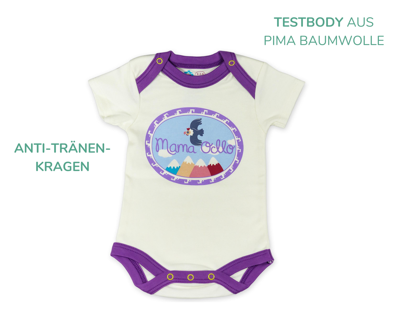 Baby Body mit Schlupfkragen für Neugeborenes_Pima Baumwolle