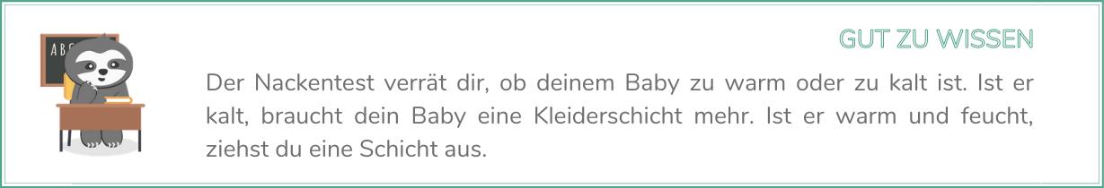 Chill n Feel - Baby schwitzt_Nackentest machen