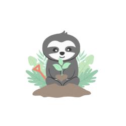 Faultier Magnet_Bäume pflanzen