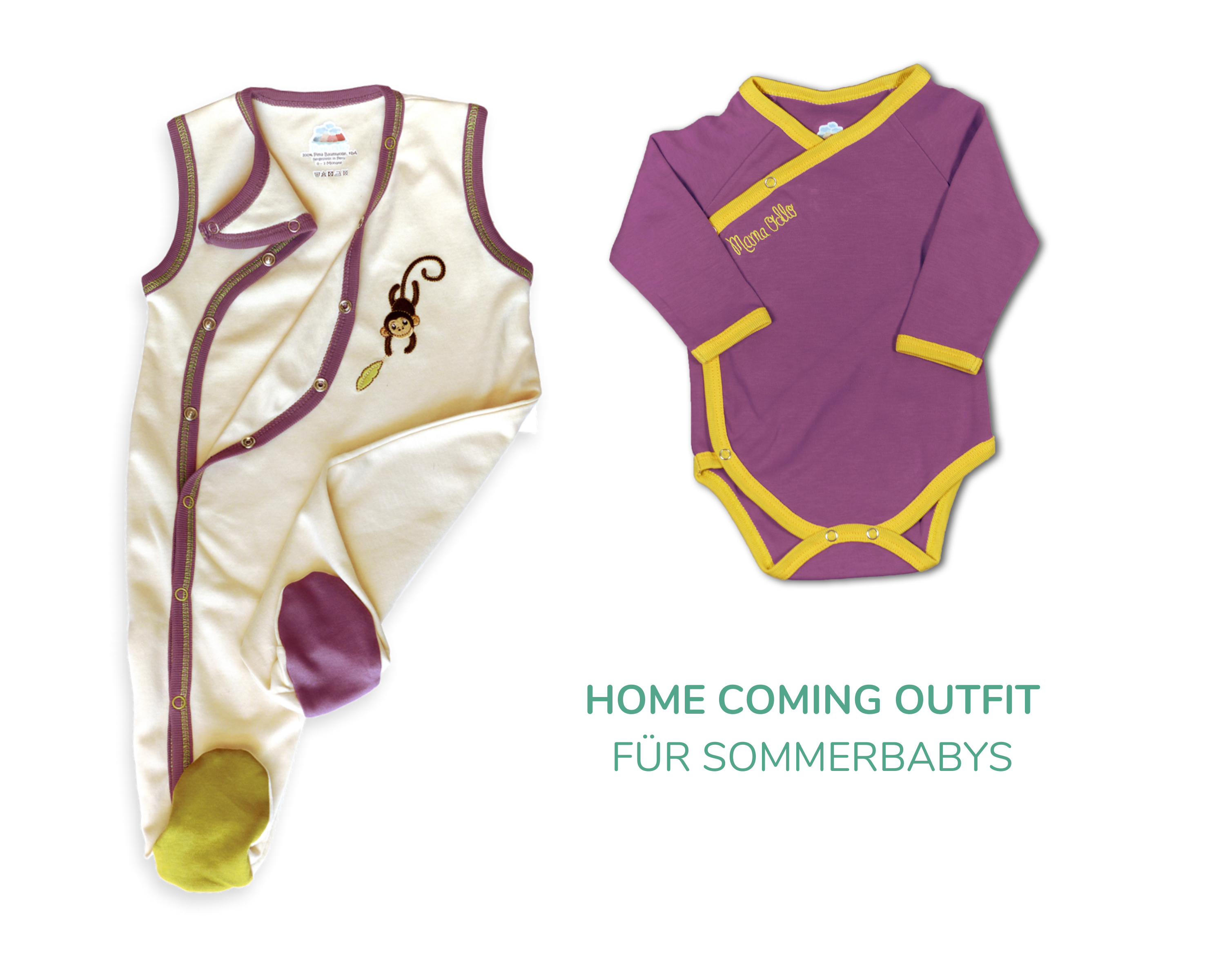 Home Coming Outfit für neugeborene Sommerbabys