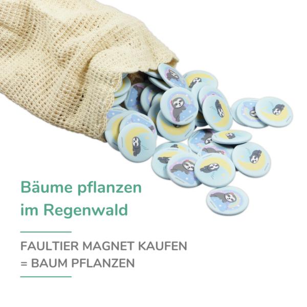 Chill n Feel - Wiederaufforstung_Bäume pflanzen_Faultier Magnet (2)