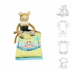 Baby Newborn Set mit Kuscheltier Affe