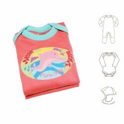 3-teiliges Baby Starterset für Mädchen aus Pima Baumwolle