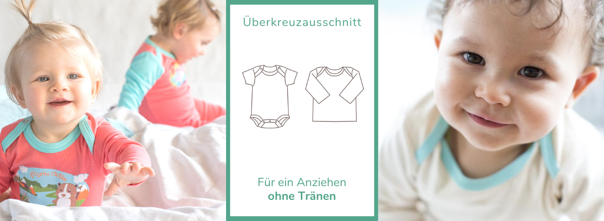 Praktische Babykleidung mit Überkreuzausschnitt