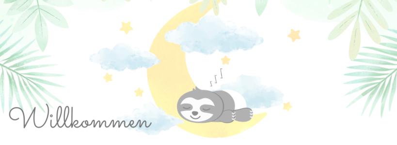 Die schönsten Sprüche zur Geburt auf Faultier Postkarte