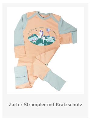 Neugeborenen Strampler mit Kratzschutz aus Pima Baumwolle