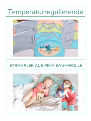 Strampler aus Pima Baumwolle für Sommerbabys