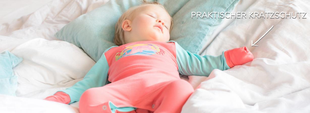 Strampler mit Kratzschutz für Neugeborene