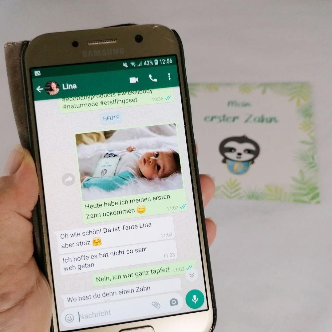 Baby Meilenstein Karten für WhatsApp Nachrichten