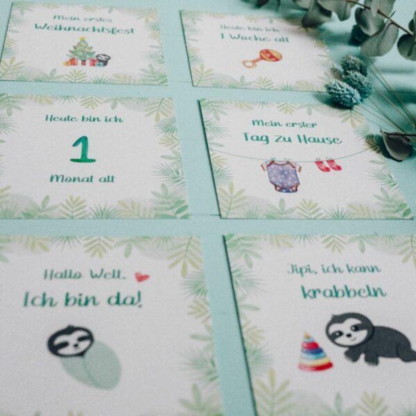 Baby Meilensteinkarten für das erste Jahr_Faultier (2)