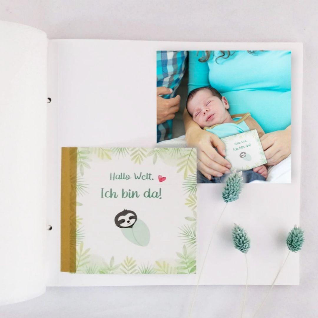 Baby Meilensteinkarten im Babyalbum (2)