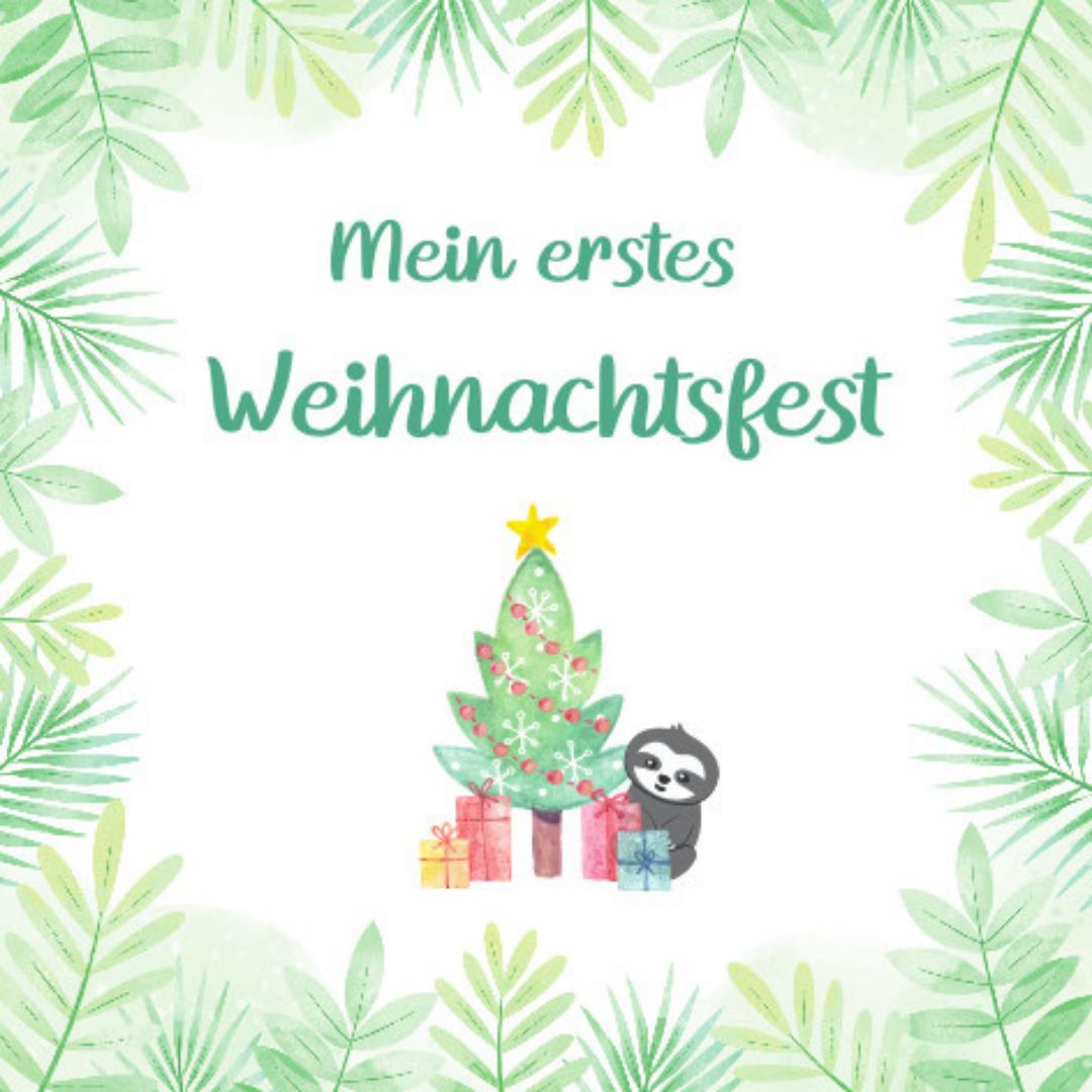 Baby Meilensteinkarten_Das erste Weihnachten_Faultier (1)
