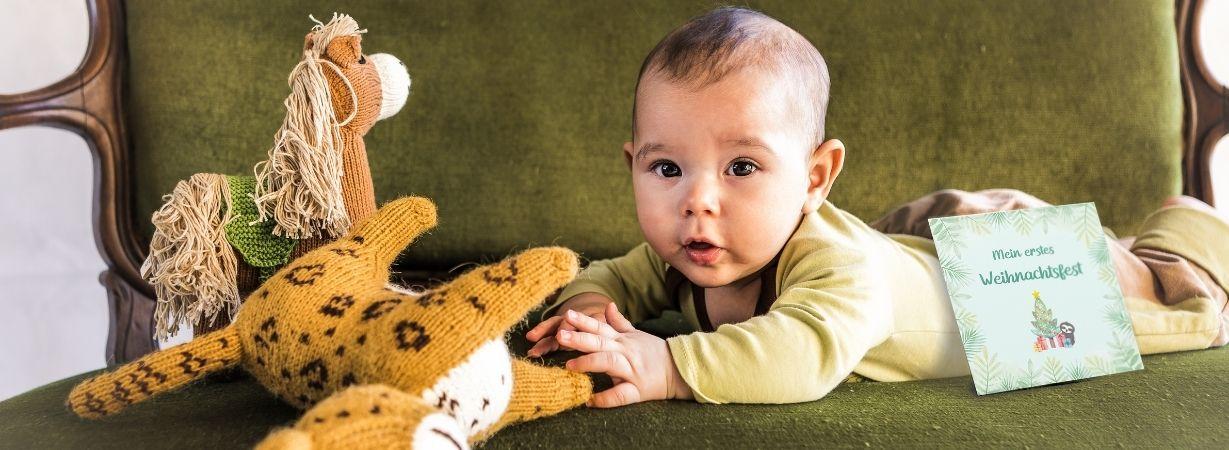 Babys erstes Jahr_Meilensteinkarte_erstes Weihnachten