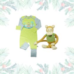 Weihnachtsgeschenk für Babys mit Äffchen Kuscheltier