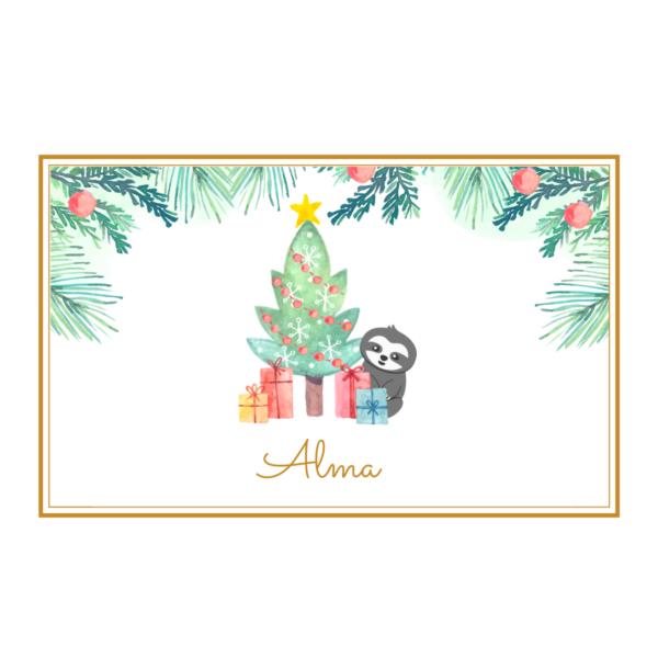 Weihnachtsgeschenk verpacken_Geschenkservice_Faultier