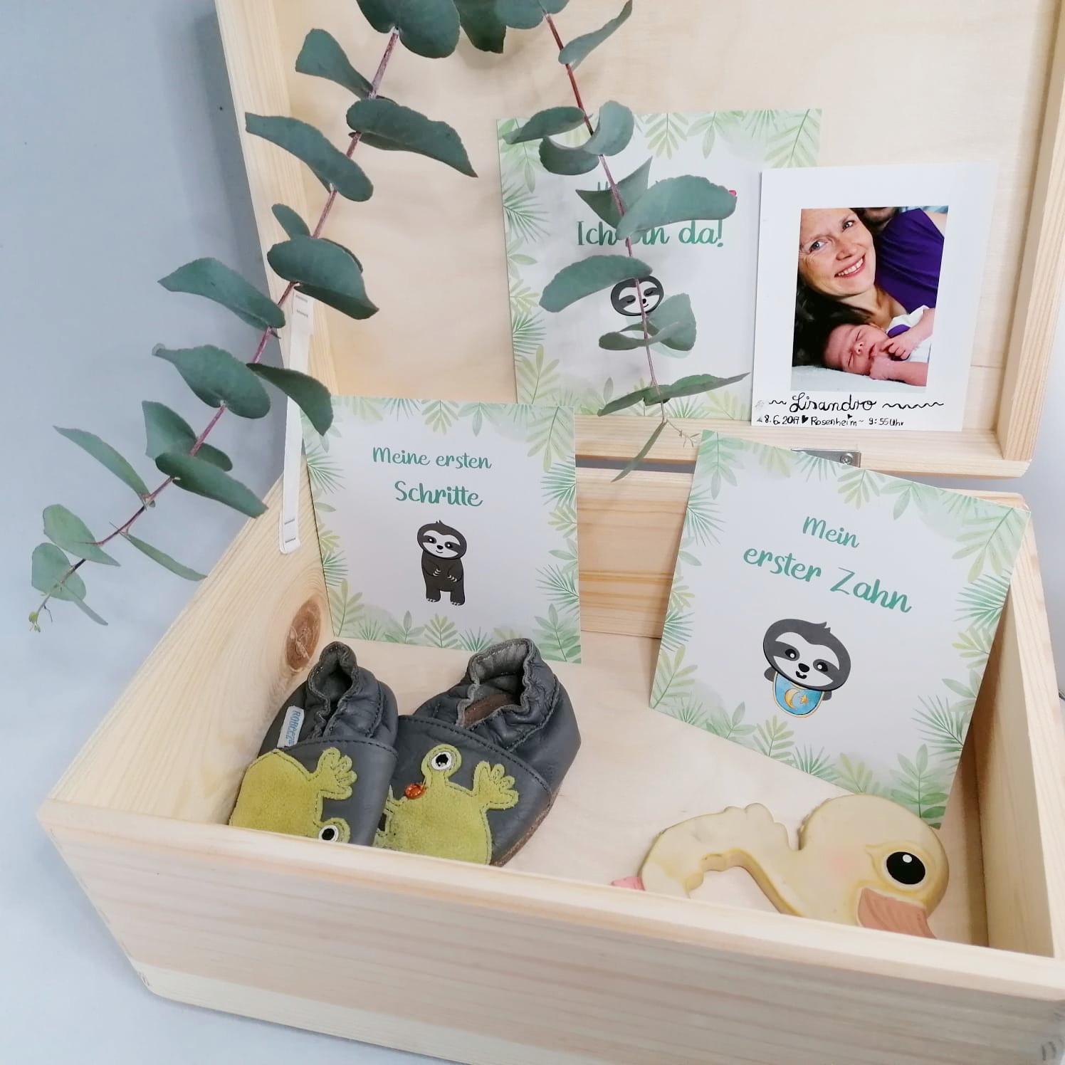 Erinnerungsbox mit Meilensteinkarten