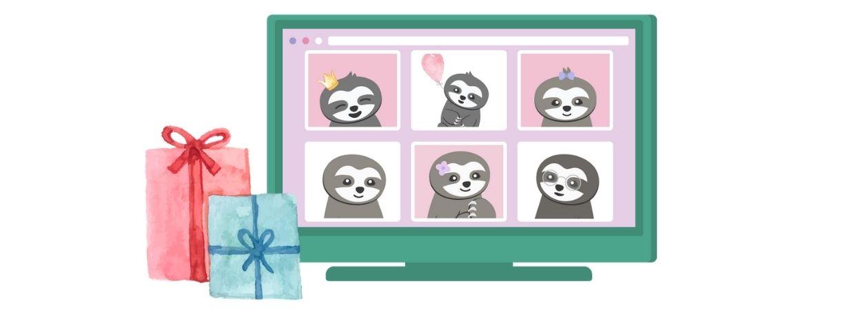 Digitale Babyparty über Zoom