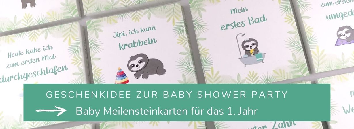 Geschenkidee Baby Shower Party_Meilensteinkarten
