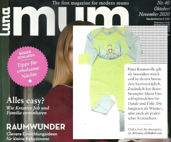 Babykleidung bei Neurodermitis aus Bio Pima Baumwolle von Chill n Feel