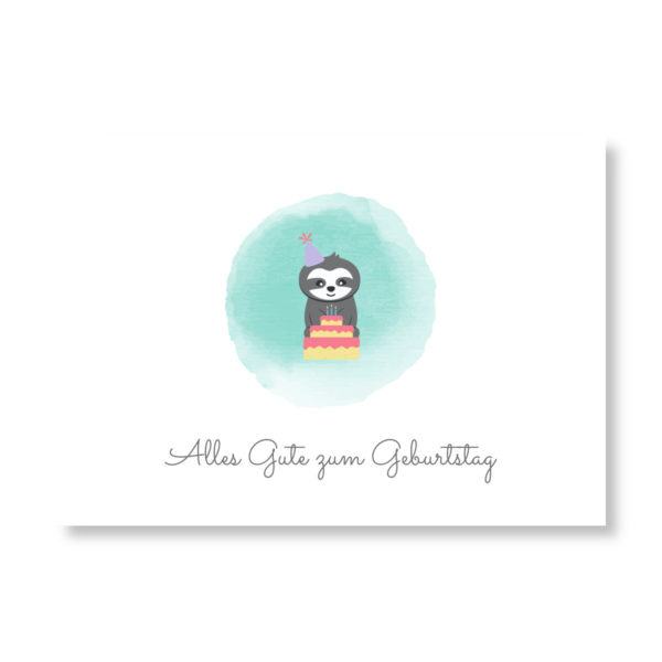 Postkarte Faultier_Alles Gute zum Geburtstag (2)
