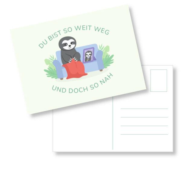 Postkarte Faultier_Post für das Enkelkind (2)