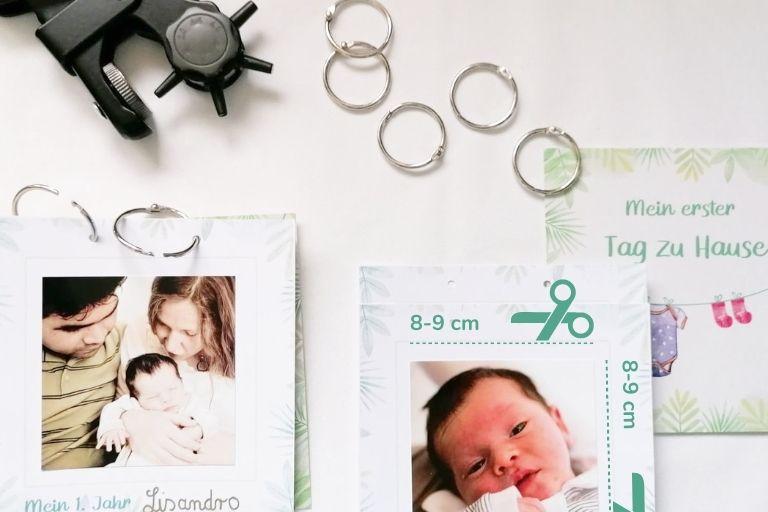 Babyalbum mit Meilensteinkarten_Faultier (1)