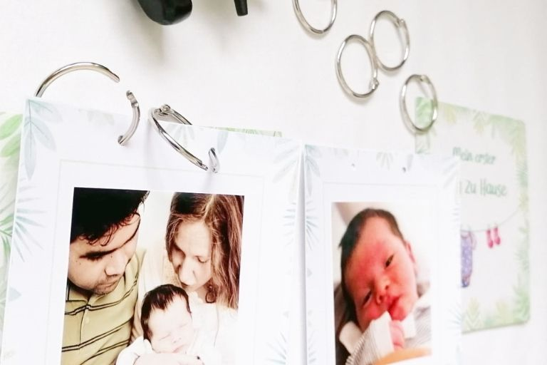 Babyalbum mit Meilensteinkarten_Faultier (3)