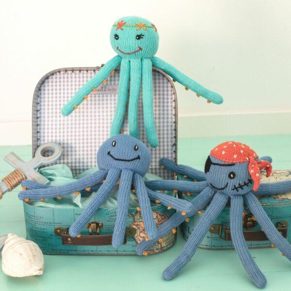 Geschenk für Drillinge zur Geburt_Oktopusse für Frühchen
