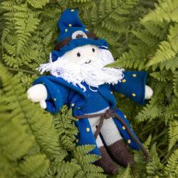 Puppe Zauberer Merlin aus Biobaumwolle