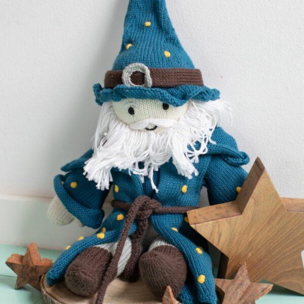 Puppe Zauberer aus Biobaumwolle