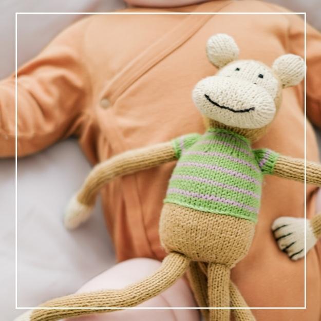 Babyparty Geschenk Kuscheltier Affe