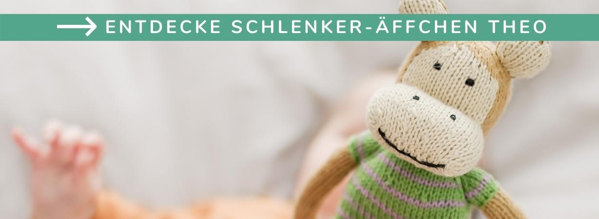 Babyparty Geschenke_Affe_Schlenkeraffe