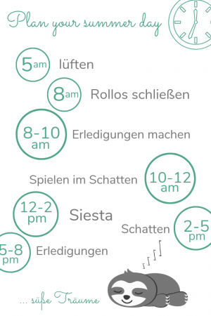 Entspannter Babyschlaf im Sommer_Zeitplan_Infografik_Faultier_ChillnFeel